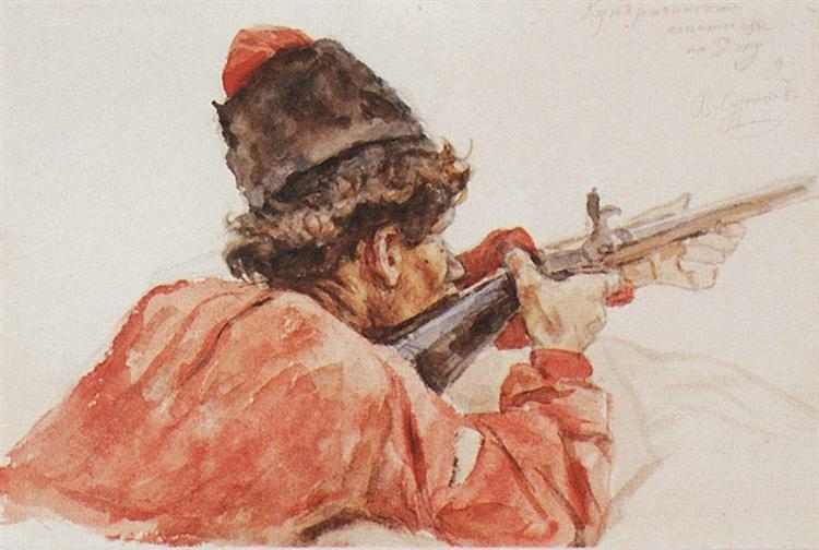Shooting cossack, 1893 - Vasili Súrikov