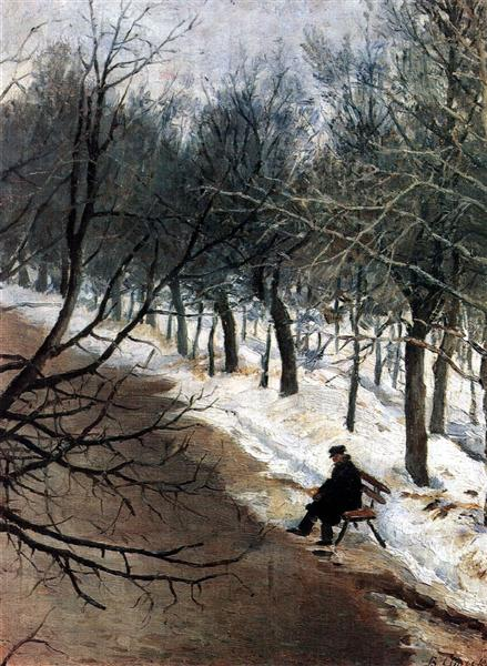 Zubovsky boulevard in winter, c.1886 - Vasily Surikov