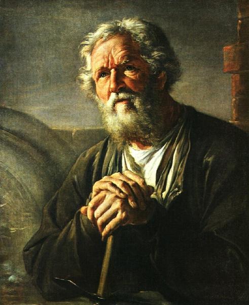 Portrait of S. K. Sukhanov, 1823 - Vassili Tropinine