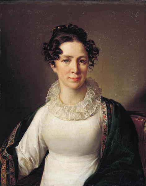 Portrait of the artist's sister VATropinin, 1825 - Vasily Tropinin