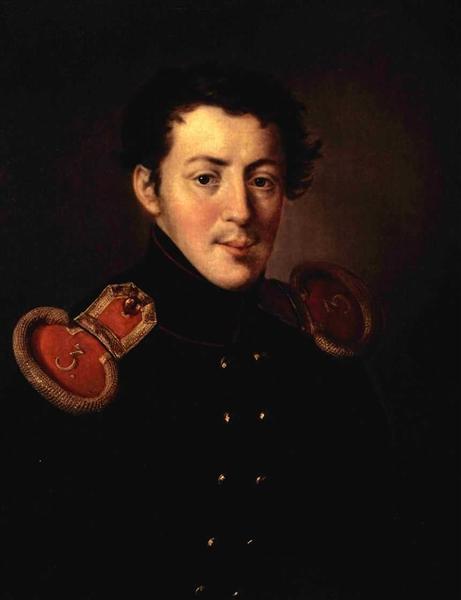 Portret Lieutenant Captain Ivan Vasilyevich Alymova, 1819 - Vasily Tropinin
