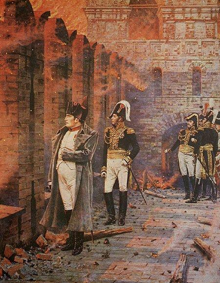 In the Kremlin - A Fire, 1887 - 1895 - Vasily Vereshchagin