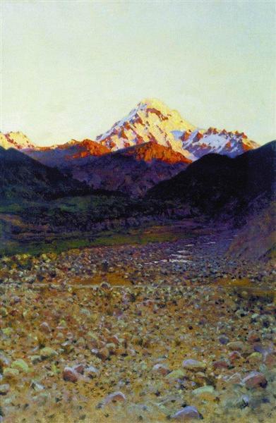 In the mountains - Wassili Wassiljewitsch Wereschtschagin