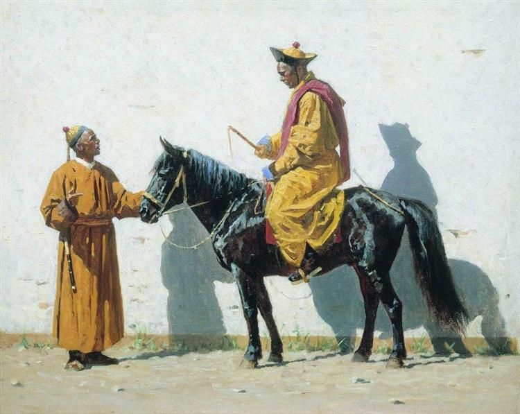 Kalmyk-lama, 1869 - 1870 - Vasily Vereshchagin