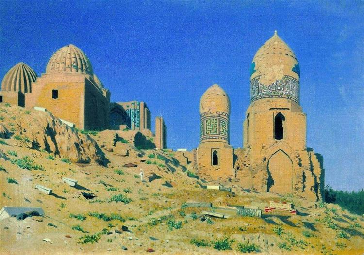 Mausoleum of Shah-i-Zinda in Samarkand - Vasily Vereshchagin