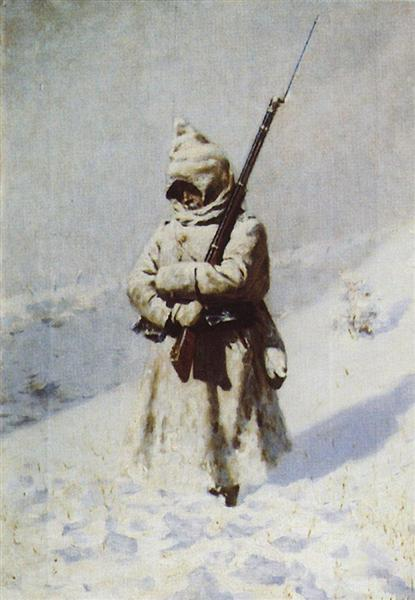 Soldiers in the snow, 1877 - 1878 - Vasily Vereshchagin