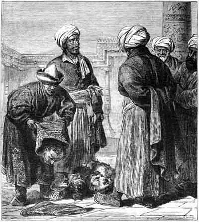 Туркмени представляють військові трофеї Хівинському ханові, c.1868 - Василь Верещагін