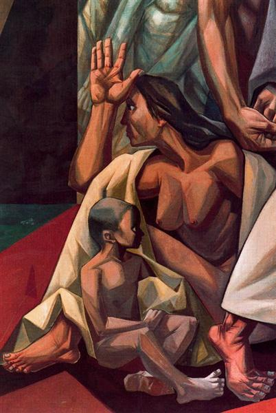 Mankind's Struggle for Lasting Peace (detail), 1953 - Vela Zanetti