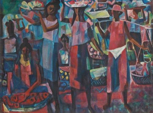 Market Vendors - Vicente Manansala