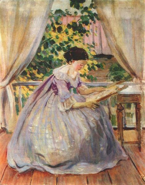 Lady Embroidering, 1901 - Victor Borisov-Musatov