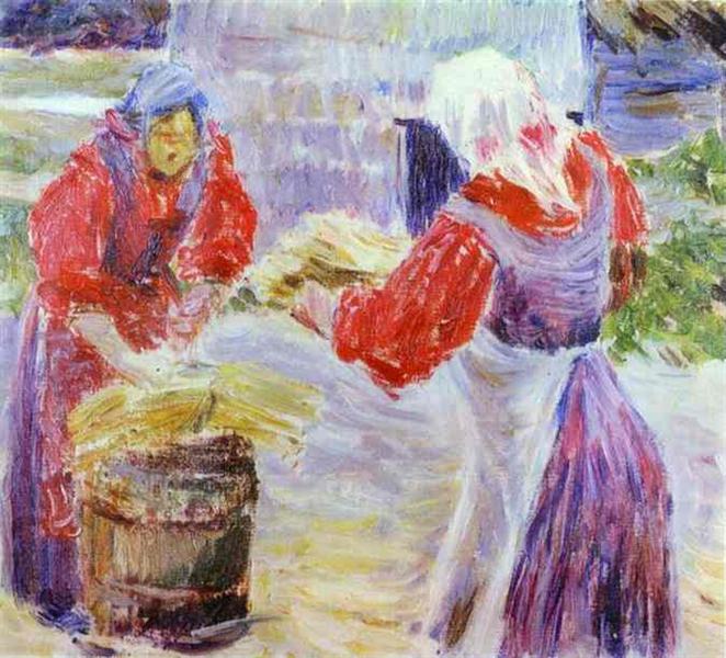 Peasant Women, c.1894 - Victor Borisov-Musatov