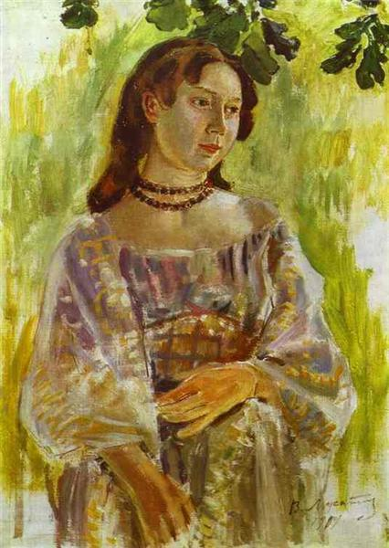 Young Girl with a Necklace, 1904 - Victor Borisov-Musatov