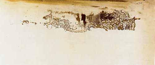 Lace impression, spectral form, 1855 - Victor Hugo