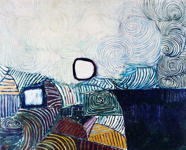 Spiral Development in Green Violet Blue & Gold, 1951 - Victor Pasmore