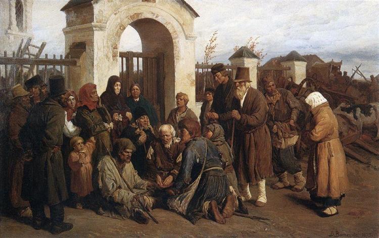 Beggars singer (Pilgrims), 1873 - Viktor Vasnetsov
