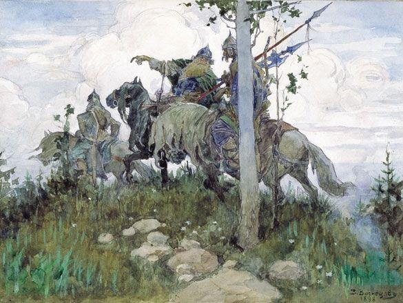 Mounted knights, 1896 - Viktor Vasnetsov