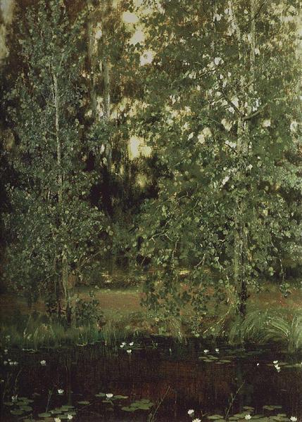Pond in Ochtir, 1880 - Viktor Vasnetsov