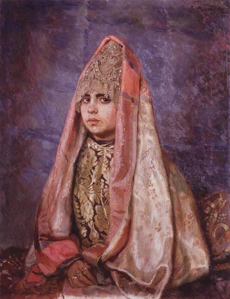 Portrait of V. Mamontova, 1884 - Viktor Vasnetsov