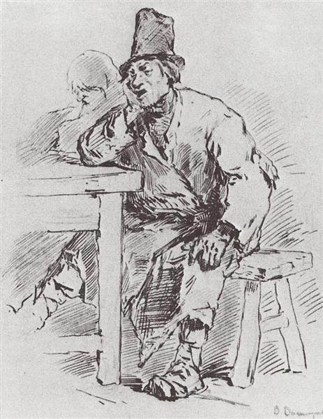 The farmer at the table, 1877 - Viktor Vasnetsov