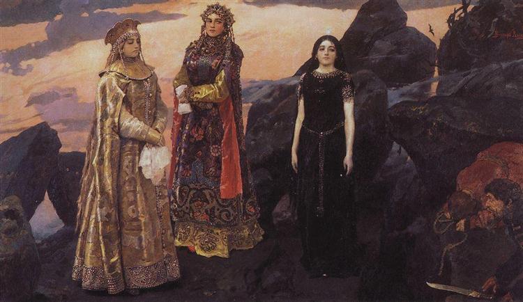 Three princess of the Underground Kingdom, 1884 - Viktor Vasnetsov