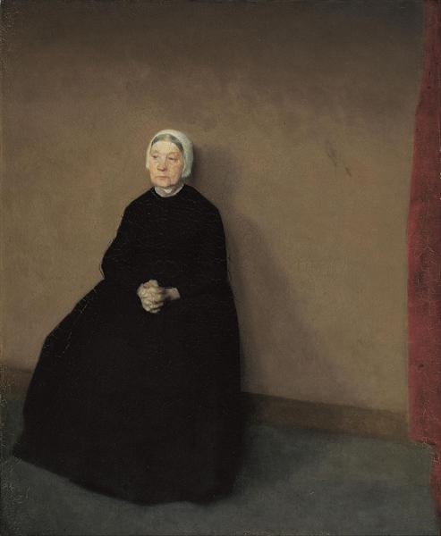 An old woman, 1886 - Vilhelm Hammershoi