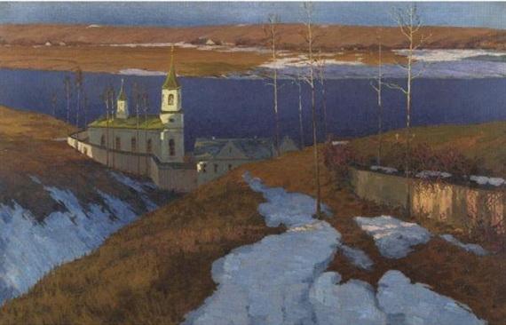 Orthodox Monastery in Latvia - Vilhelms Purvītis