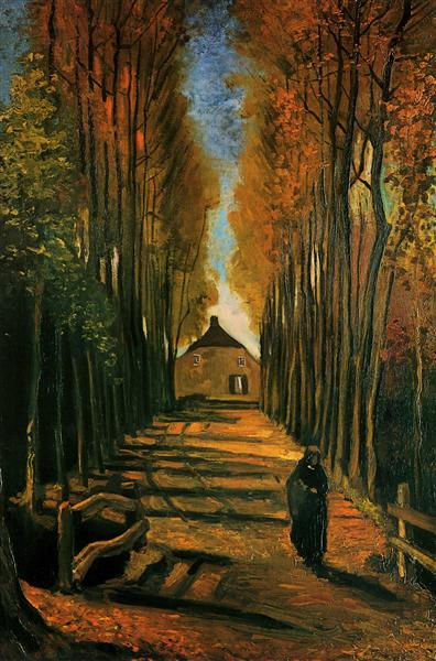 Avenue of Poplars at Sunset, 1884 - Vincent van Gogh