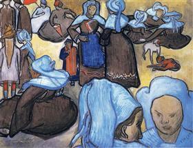 Mujeres bretonas, Vincent van Gogh