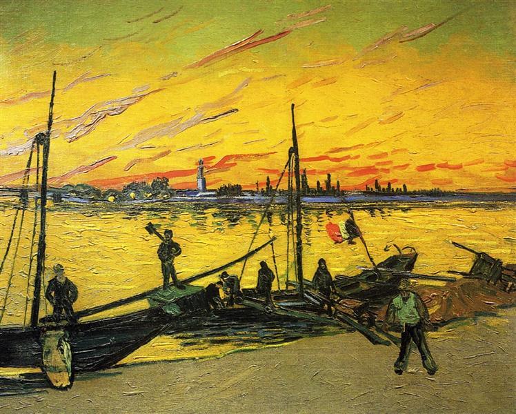Coal Barges, 1888 - Vincent van Gogh