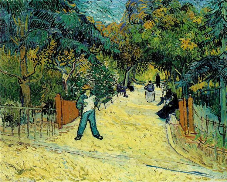 Entrance to the Public Garden in Arles, 1888 - Vincent van Gogh