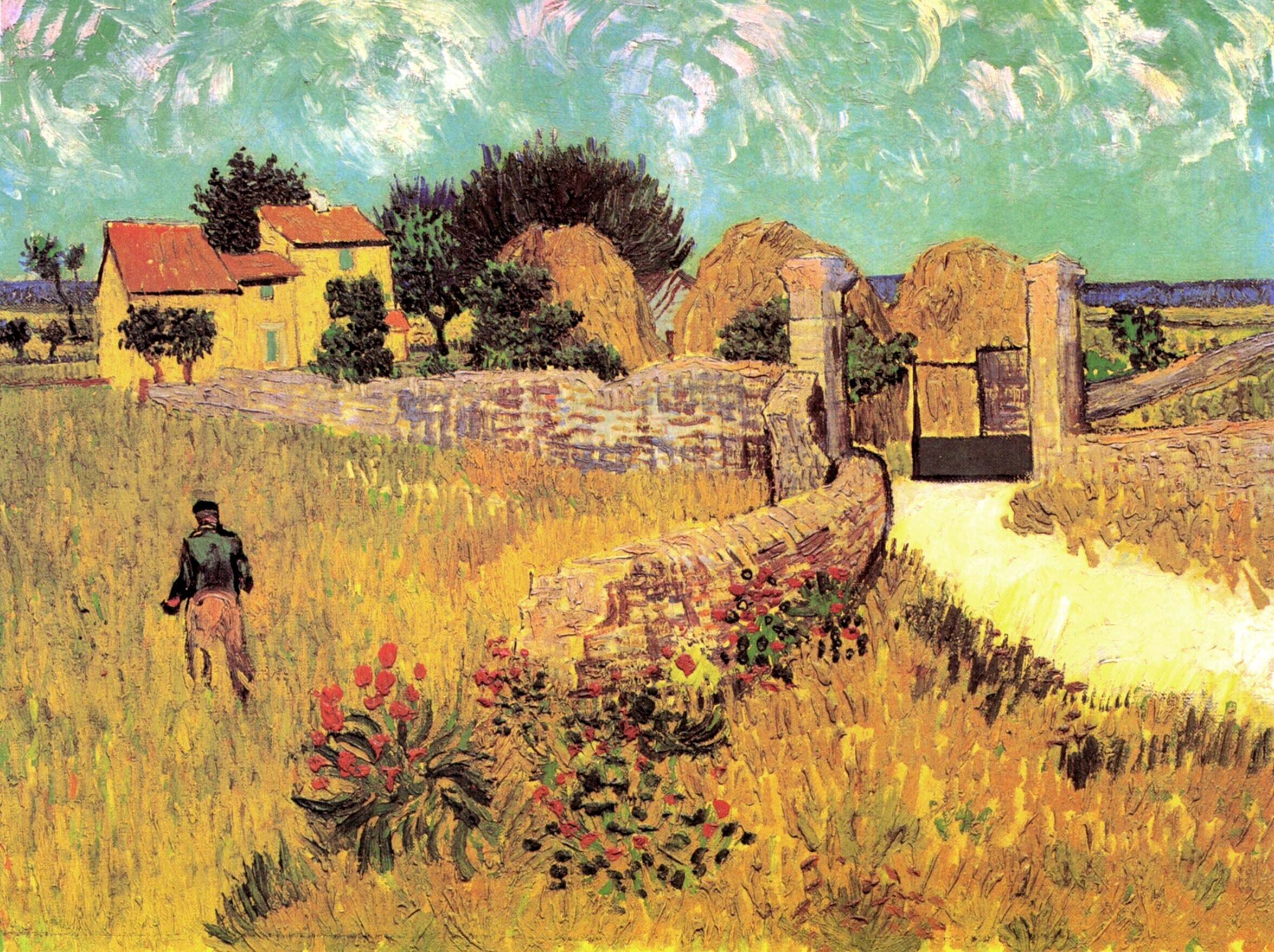 The Bedroom At Arles Farmhouse In Provence 1888 Vincent Van Gogh Wikiart Org