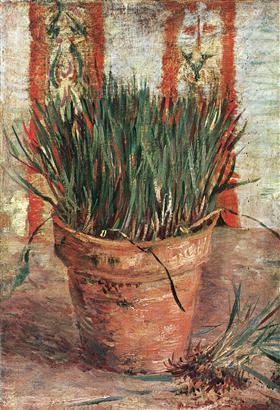 Maceta con las cebolletas, Vincent van Gogh