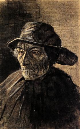 Cabeza de un pescador con un Sou'wester, Vincent van Gogh
