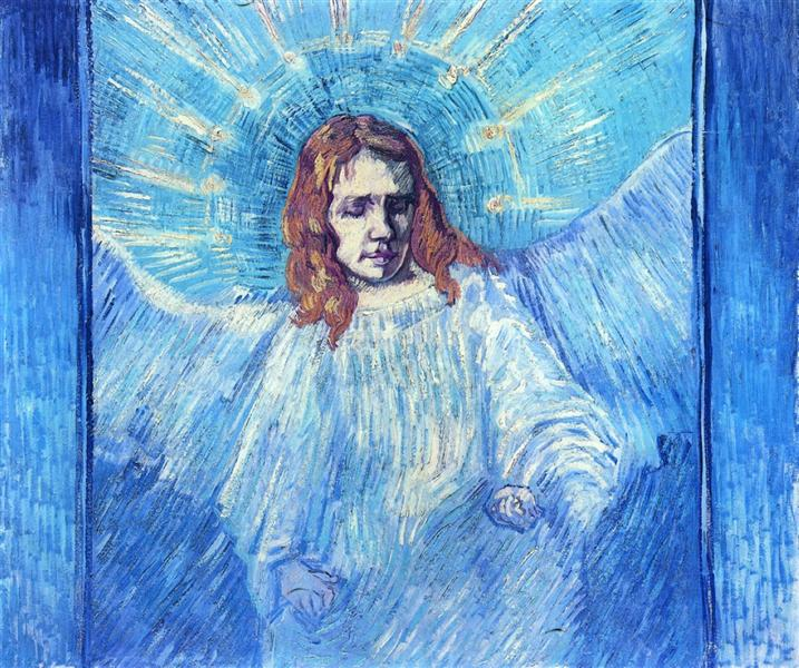 Head of an Angel, after Rembrandt, 1889 - Vincent van Gogh