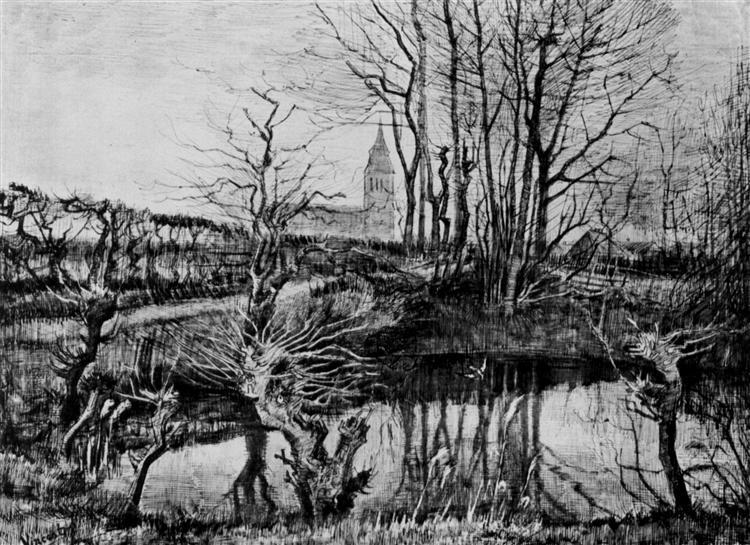 Landscape at Nuenen, c.1884 - Vincent van Gogh