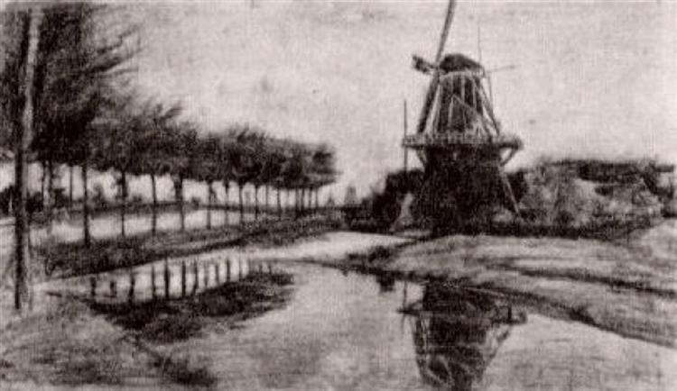Landscape with Windmill, 1881 - Vincent van Gogh