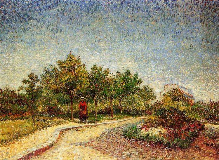 Lane in Voyer d'Argenson Park at Asnieres, 1887 - Vincent van Gogh