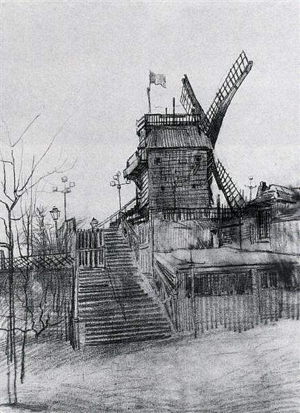 Le Moulin De La Galette 1886 Vincent Van Gogh Wikiart Org