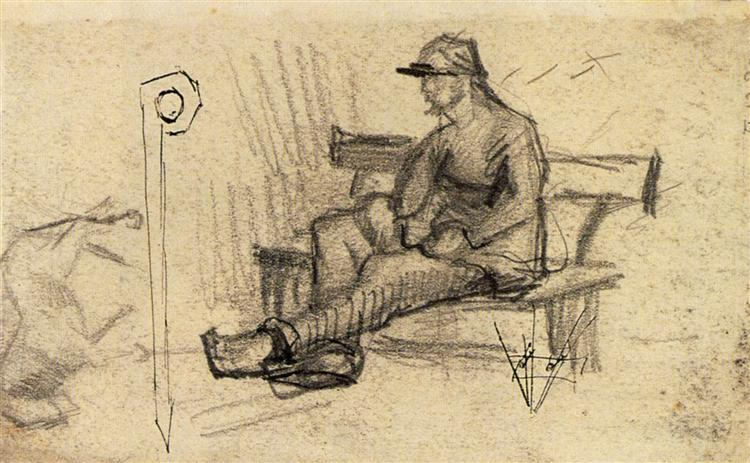 Man on a Bench, 1886 - Vincent van Gogh