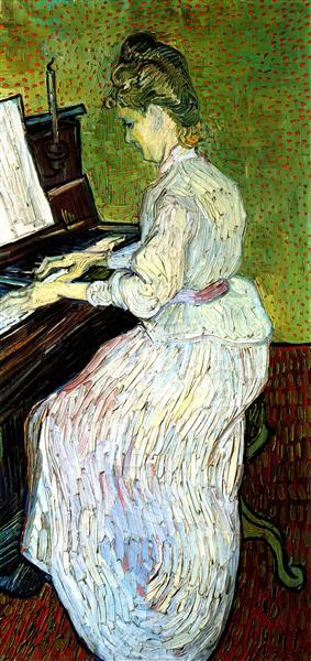 Marguerite Gachet at the Piano, 1890 - Vincent van Gogh - WikiArt.org