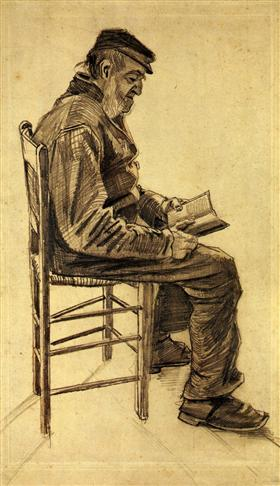 Old Man Reading - Vincent van Gogh