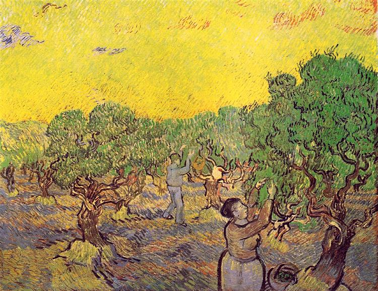 Olive Grove With Picking Figures 1889 Vincent Van Gogh Wikiart Org