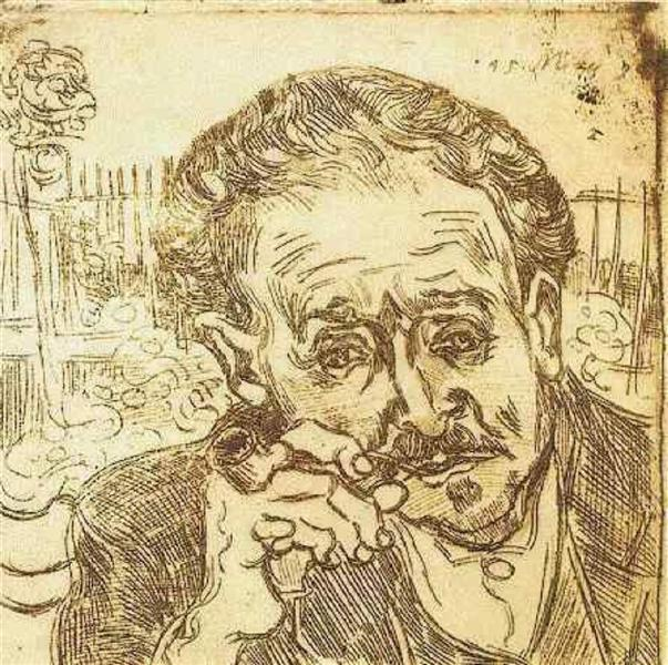Portrait of Doctor Gachet (A man with pipe), 1890 - Vincent van Gogh
