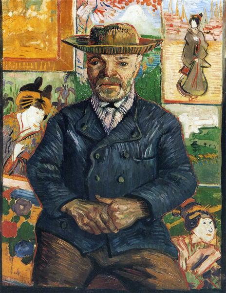 Portrait of Père Tanguy, 1888 - Vincent van Gogh