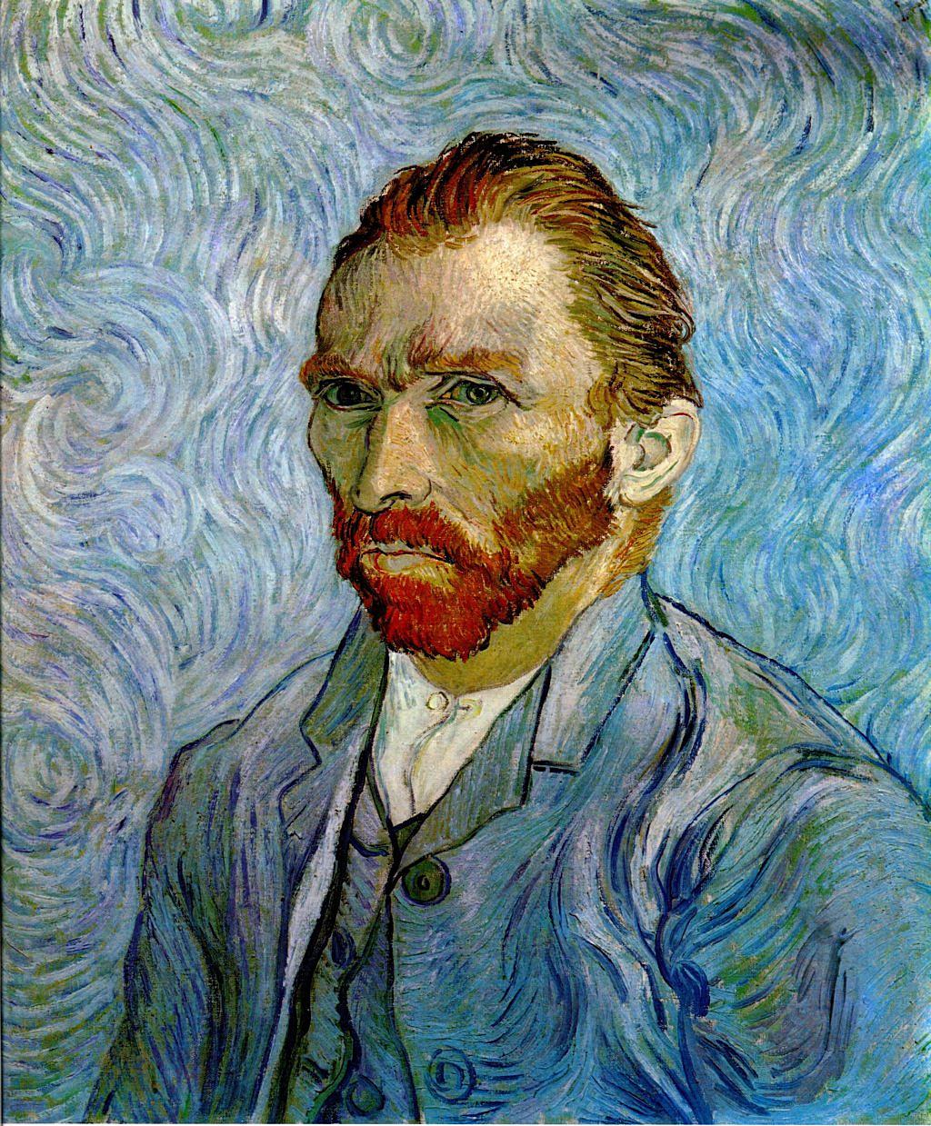 Self Portrait 1889 Vincent Van Gogh Wikiartorg