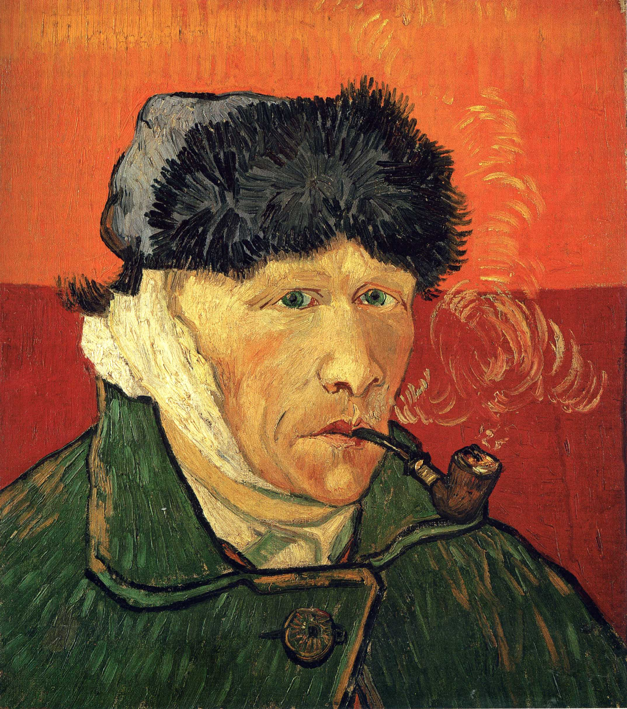 Self-portrait with bandaged ear, 1889 - Vincent van Gogh - WikiArt.org