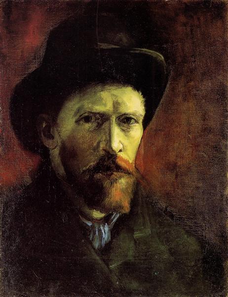 Self-Portrait with Dark Felt Hat, 1886 - Vincent van Gogh