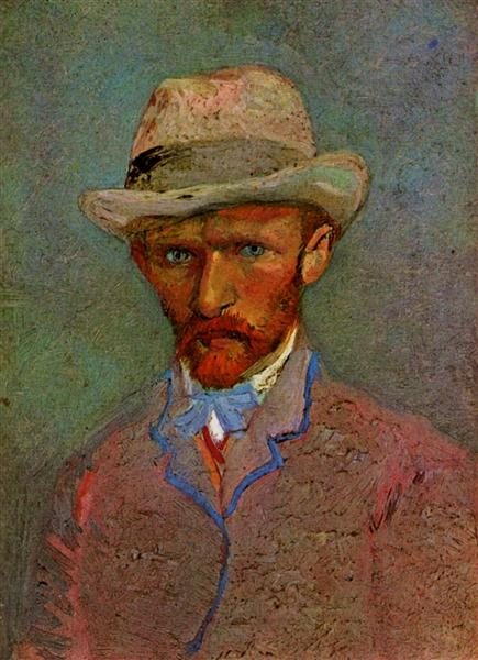 Self-Portrait with Gray Felt Hat, 1887 - Vincent van Gogh