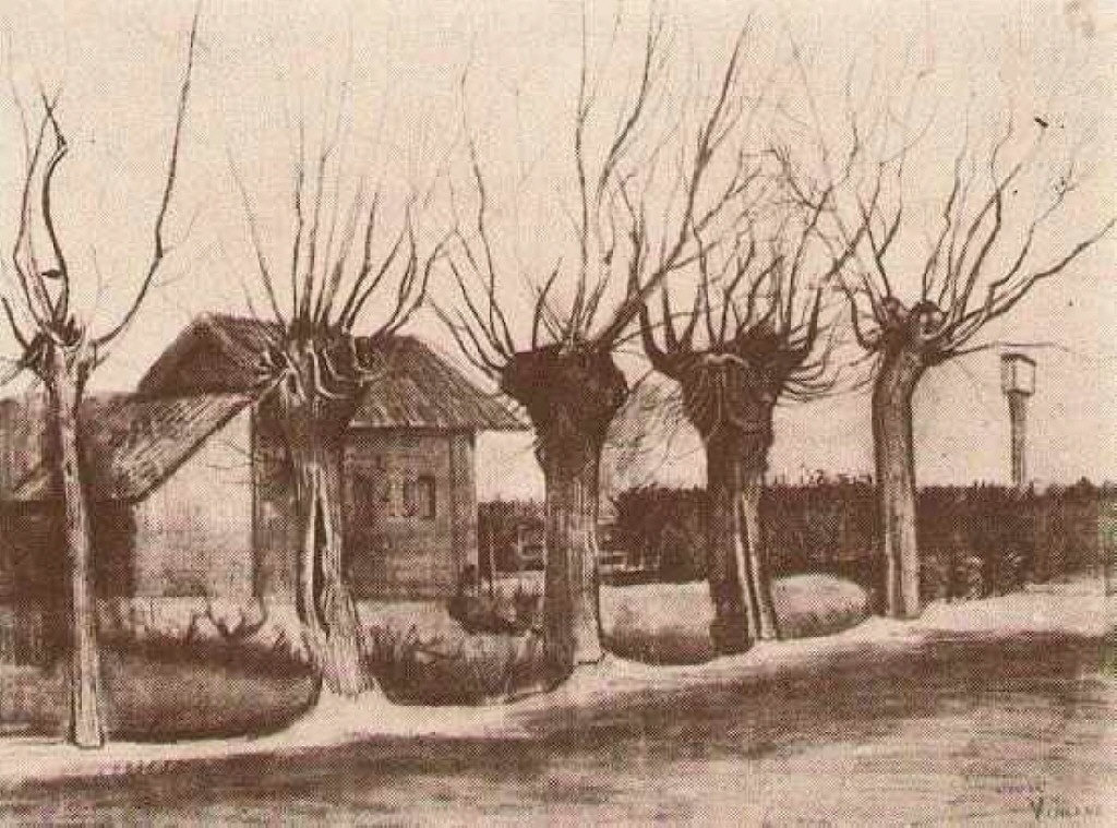 Small House on a Road with Pollard Willows, 1881