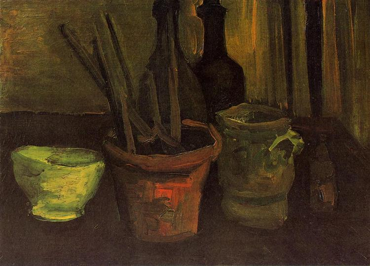 Still Life Of Paintbrushes In A Flowerpot 1884 Vincent